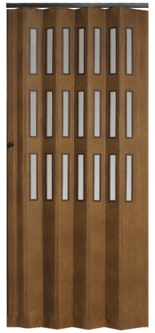 Dveře koženkové prosklené