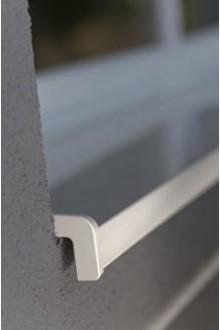 Parapet hliníkový ohýbaný